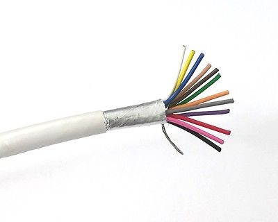 25' 12 Conductor 22 Gauge Shielded Cable, CMR Rated 25 Foot 12C 22AWG S2212 - MarVac Electronics
