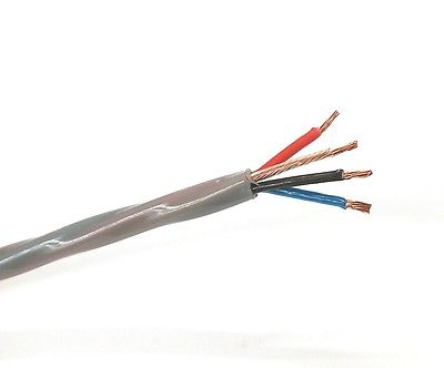 25' 4 Cond 18 Gauge Stranded Unshielded, CL2P Plenum Cable ~ 4C 18AWG 150C - MarVac Electronics