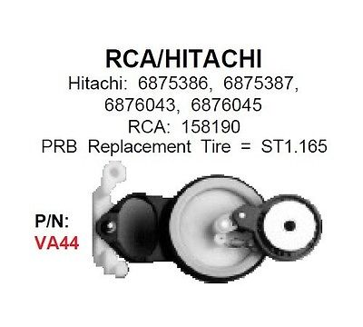 PRB VA44 VCR Idler For RCA 150650, Hitachi 6875386 VA-44 - MarVac Electronics