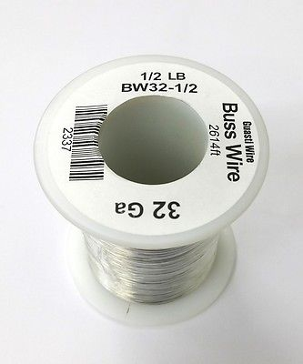 32 Gauge Tinned Copper Bus Wire, 1/2 Pound Roll (2,614' Approx. Lgth) 32AWG - MarVac Electronics