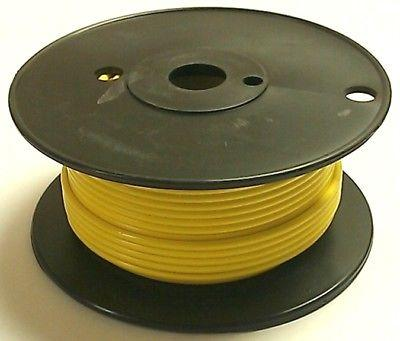 100' Roll 18 Gauge 18AWG YELLOW GPT PVC Stranded 50V Automotive Hook Up Wire
