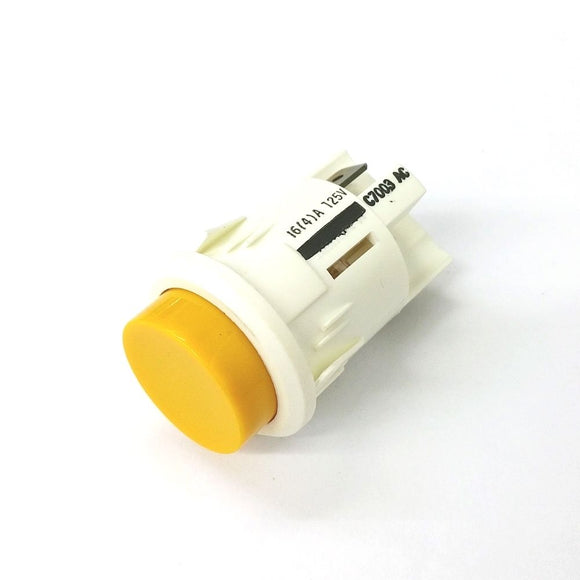 Arcolectric C7003ACWA2 SPST ON-OFF 125V Lighted Yellow Pushbutton Switch 16A - MarVac Electronics