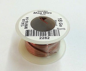 18 Gauge Insulated Magnet Wire, 1/4 Pound Roll (50' Approx. Length) 18AWG - MarVac Electronics