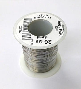 26 Gauge Tinned Copper Bus Wire, 1/2 Pound Roll (650' Approx. Length) 26AWG - MarVac Electronics