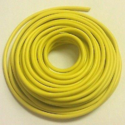15' Length 12 Gauge 12AWG YELLOW GPT PVC Stranded 50V Automotive Hook Up Wire