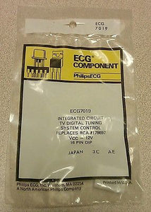 ECG7019 TV Digital Tuning System Control NTE7019 & RCA 178697 Equivalent - MarVac Electronics