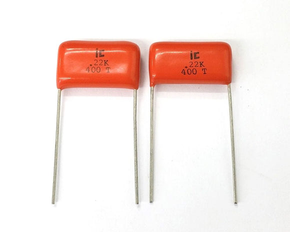 Lot of 2 0.22uF 400V Metal Film Capacitors ~ Illinois Capacitor 224MSR400K - MarVac Electronics
