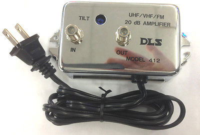 DLS 412 UHF/VHF/FM 20dB Amplifier With Tilt Adjustment - MarVac Electronics