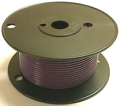 100' Roll 18 Gauge 18AWG VIOLET GPT PVC Stranded 50V Automotive Hook Up Wire