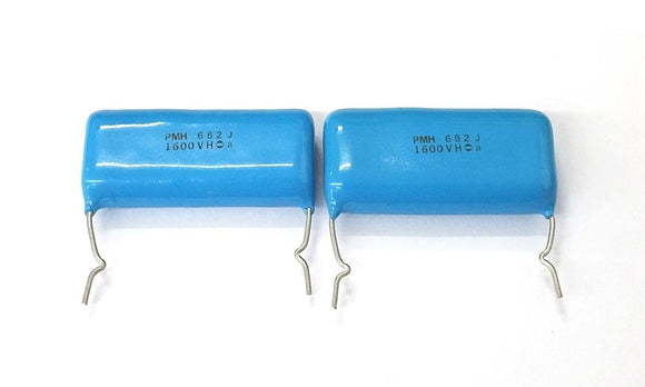 Lot of 2 0.0068uF 1600V Metallized Film Capacitors ~ PMH 682J 1600V 6,800pF - MarVac Electronics