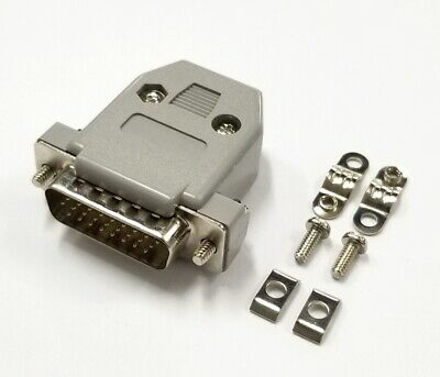 HD 26 Pin Male D-Sub Cable Mount Connector w/ Plastic Cover & Hardware DB26