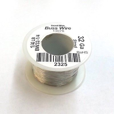 32 Gauge Tinned Copper Bus Wire, 1/4 Pound Roll (1,307' Approx. Lgth) 32AWG - MarVac Electronics