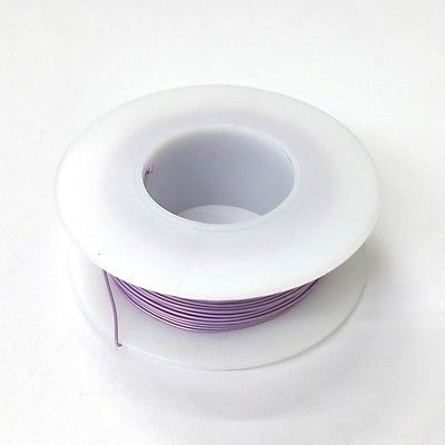 100' Page 28AWG VIOLET KYNAR Insulated Wire Wrap Wire 100 Foot Roll Made In USA - MarVac Electronics