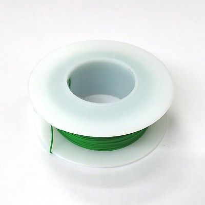 100' Page 28AWG GREEN KYNAR Insulated Wire Wrap Wire 100 Foot Roll ~ Made In USA - MarVac Electronics