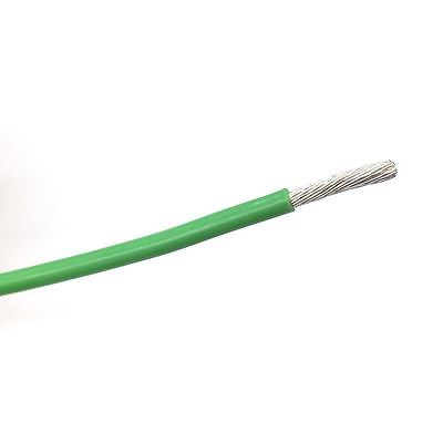 10' 12AWG GREEN Hi Temp PTFE Insulated Silver Plated 600 Volt Hook-Up Wire - MarVac Electronics