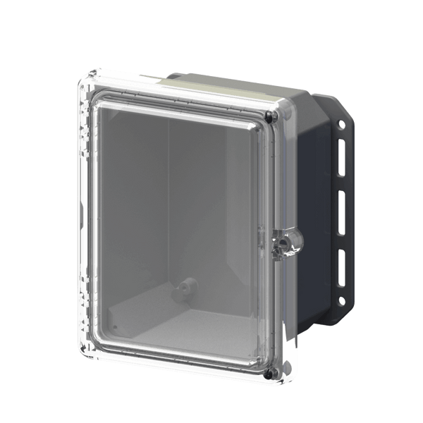"Serpac I152HLGC Hinged Lid Cabinet IP67 Waterproof Enclosure 9.7"" x 8.2"" x 5.5"""