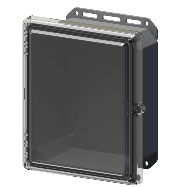 Serpac I342HLGC Hinged Lid Cabinet IP67 Waterproof Enclosure 11.8 x 10.2 x 5.5""