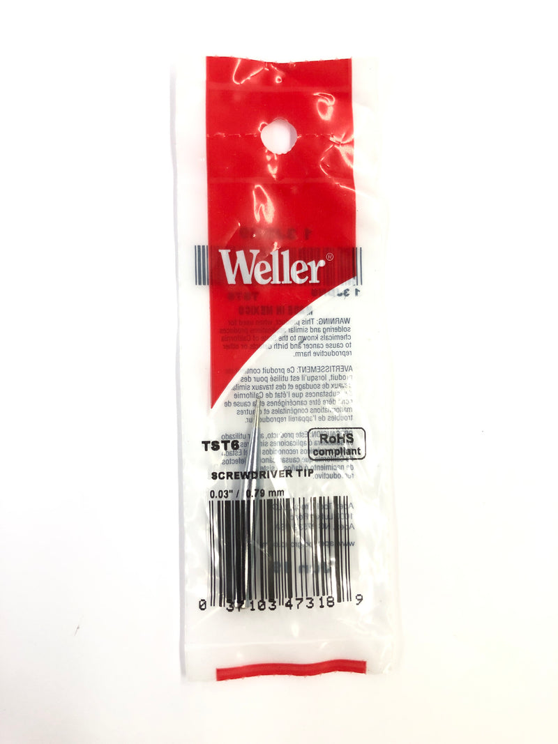 New Weller ST6 0.03'' / 0.79mm Screwdriver Tip for WP25, WP30,WP35, WLC100