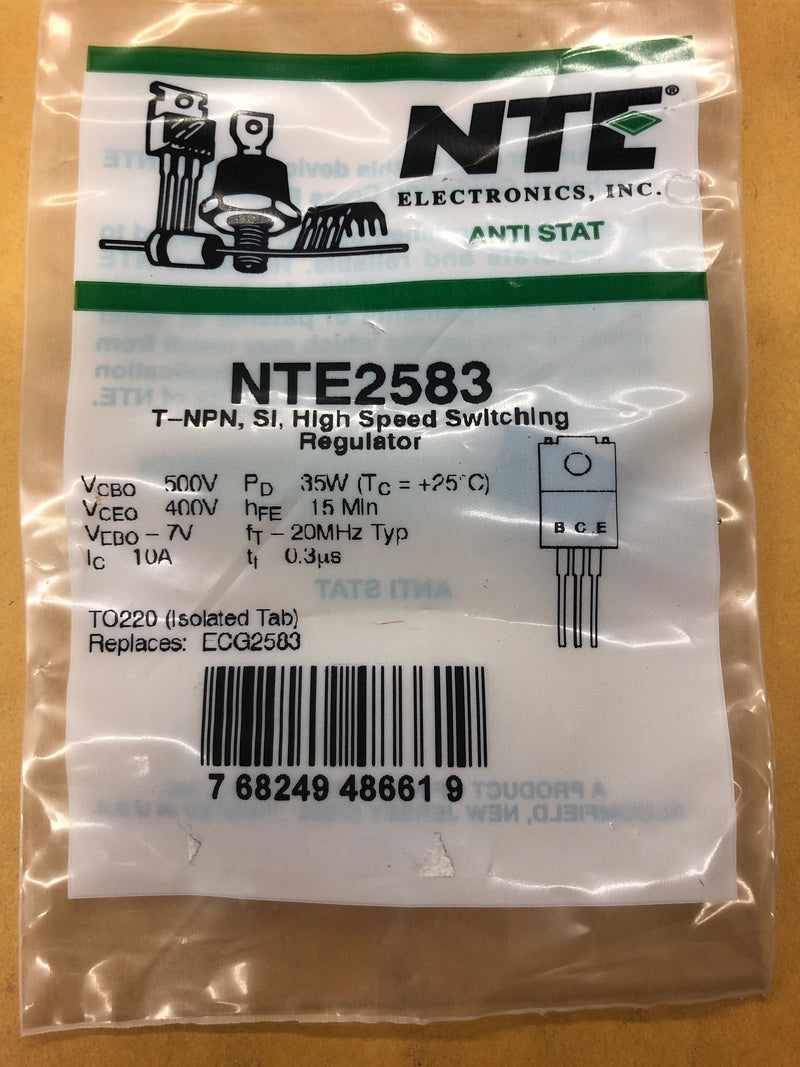 NTE2583 T NPN SI HI SPEED SWITCH