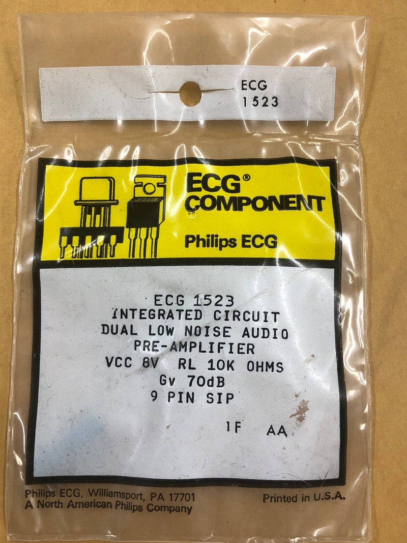 ECG1523 IC DUAL LO NSE AUD PREAMP