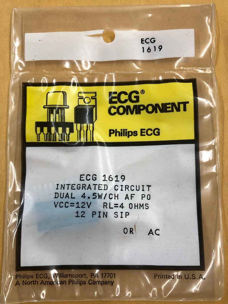 ECG1619 IC DUAL AUDIO POWER