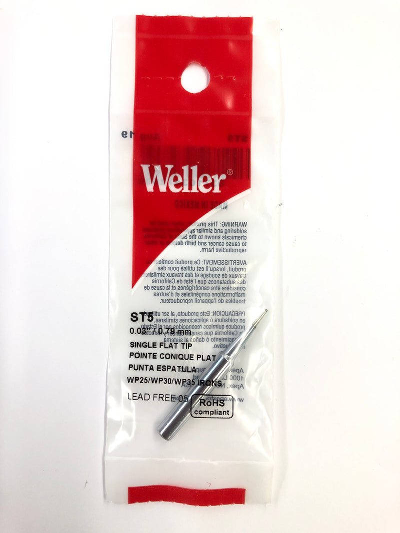 New Weller ST5 0.03'' / 0.79mm Single Flat Tip for WP25, WP30,WP35, WLC100