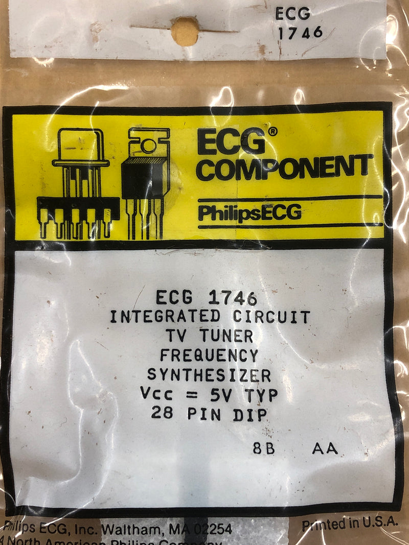 ECG1746 IC TV TUNER FREQ SYNTHESIZER