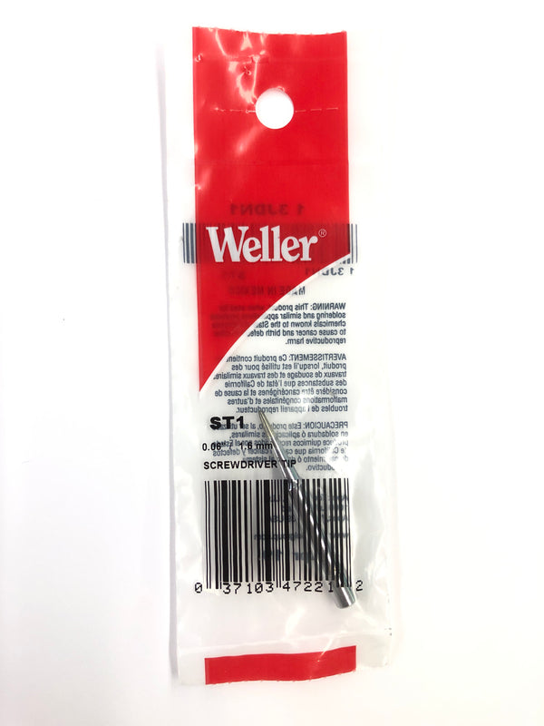 New Weller ST1 0.06'' / 1.6mm Screwdriver Tip for WP25, WP30,WP35, WLC100