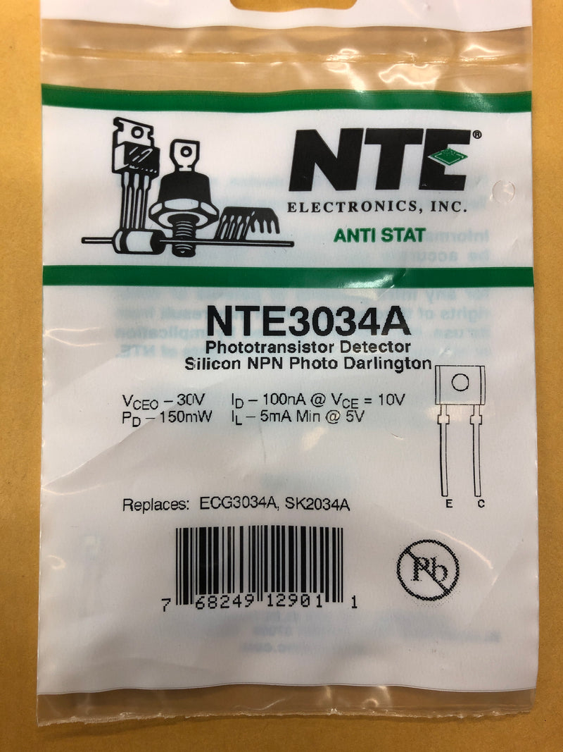 NTE3034A T NPN PHOTO LIGHT DET