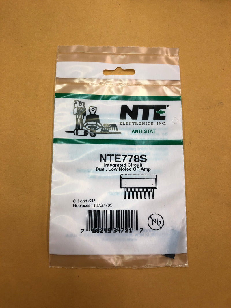 NTE778S IC Dual Low Noise OP Amp