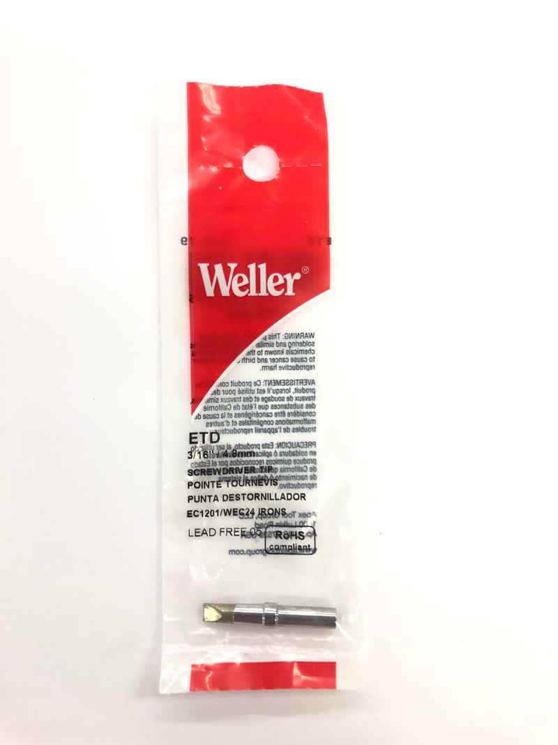 New Weller ETD 0.187'' / 0.48mm Screwdriver Tip For PES50, PES51, WES50 & WE1010