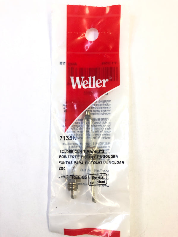 Weller 7135N Solder Gun Tip w/Nuts for 8200