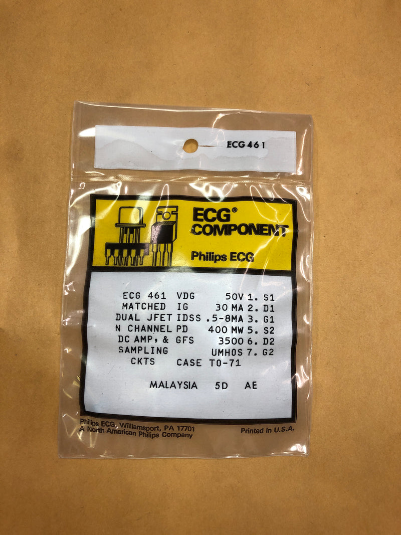 ECG461 Matched Transistor 50V 30MA TO-71