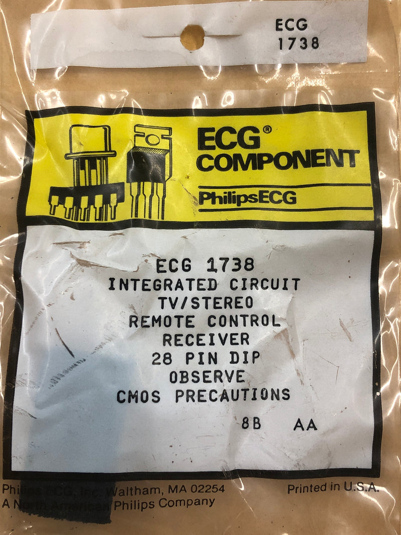 ECG1738 IC TV REMOTE CONTROL RECR