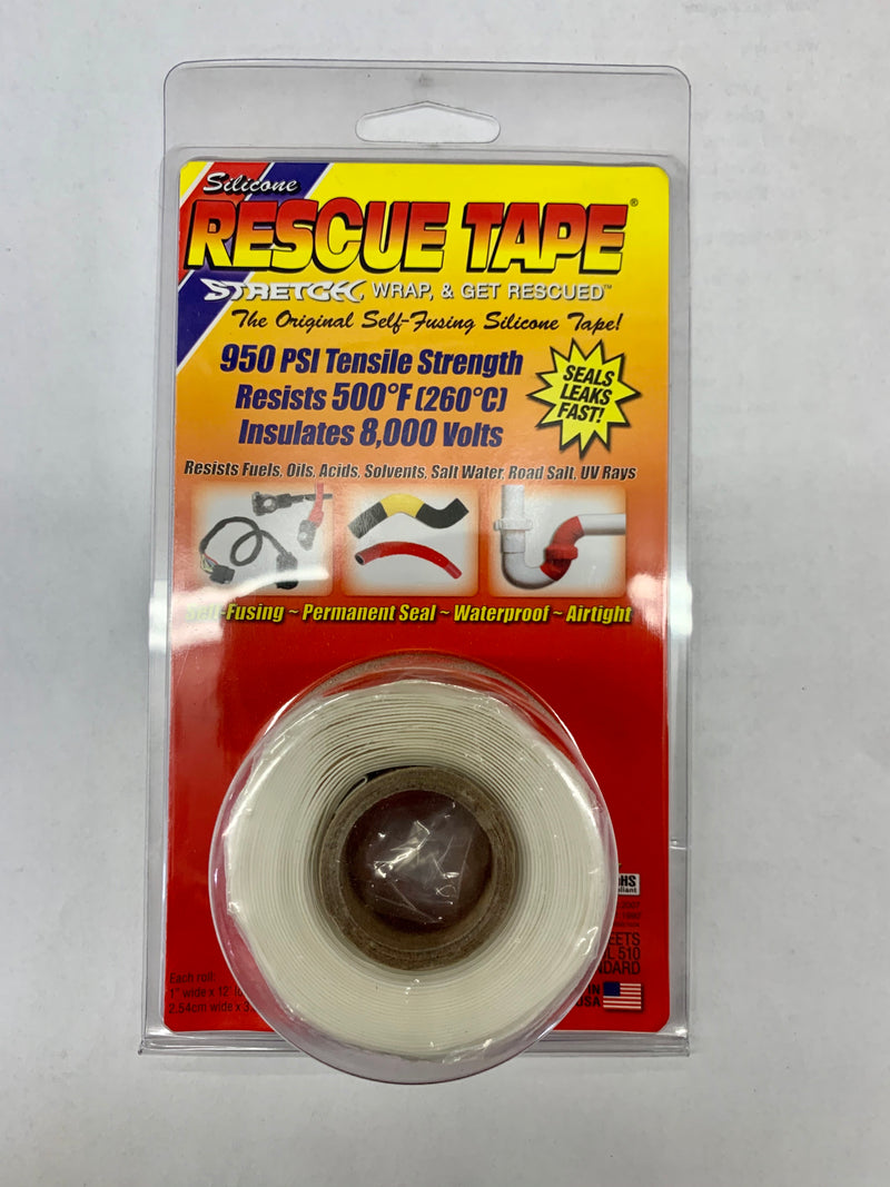 Rescue Tape 203USC03-White Self Fusing Silicone Emergency Repair Tape