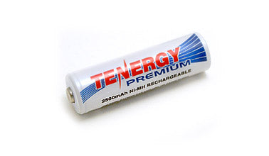 AA 2500mAh NiMH Battery 2pk 10320-2 Tenergy Nickle Metal Hydride