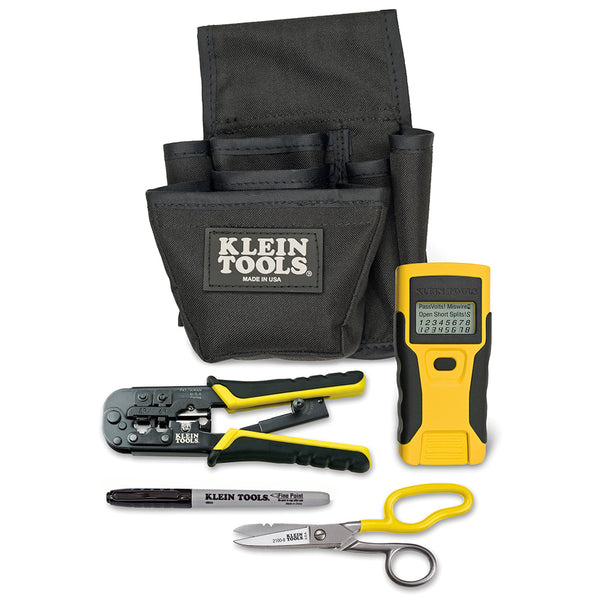 Klein # VDV0026-812 LAN Installation and Tester Starter Kit w/Crimper & Pouch