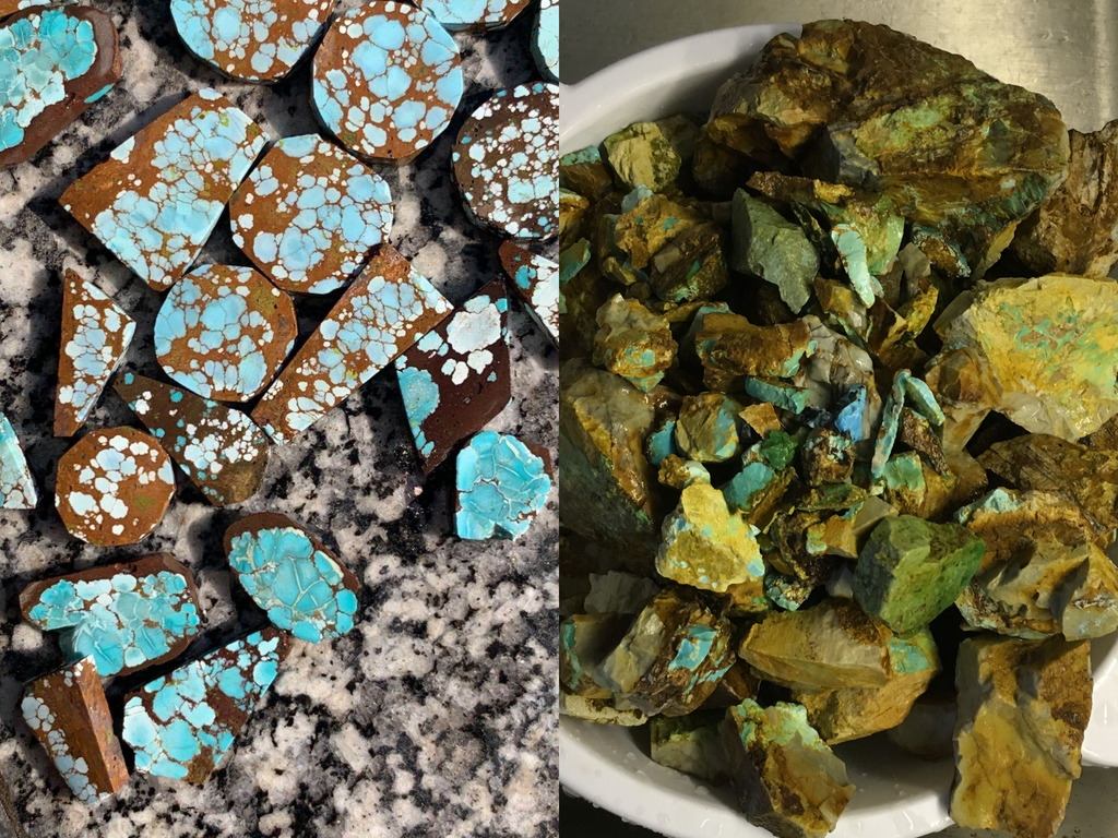Sand Hill and Royston turquoise rough | Turquoise Moose