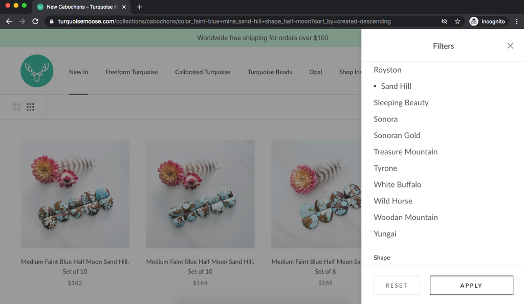 Shop Genuine Turquoise Cabochons at Turquoise Moose
