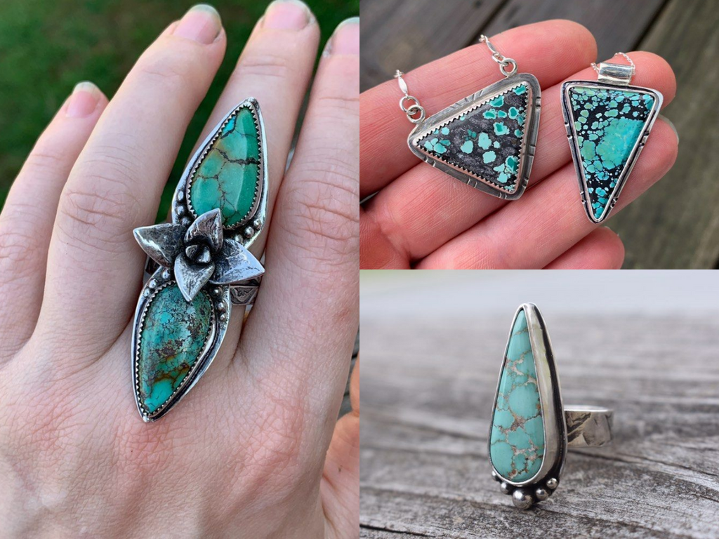 Turquoise Jewelry by Lori Campbell-Moore of @lomostudio_designs on Instagram