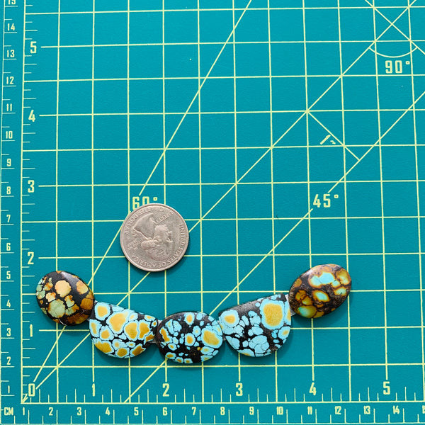 Large Sky Blue Mixed Giraffe, Set of 5 Dimensions