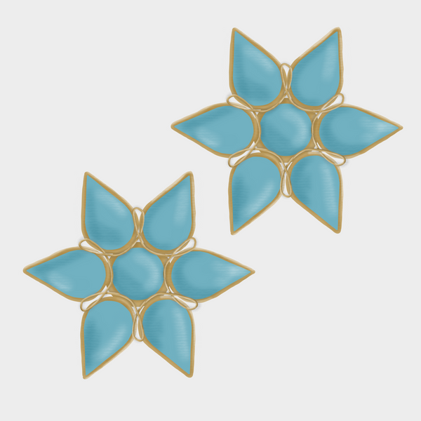 Design-ready Presets - Sonoran Gold Floral Studs