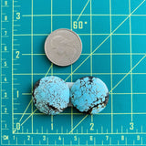 Medium Sky Blue Round Yungai, Set of 2 Dimensions