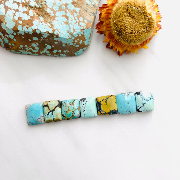 Small Mixed Bar Mixed Turquoise, Set of 7 Background
