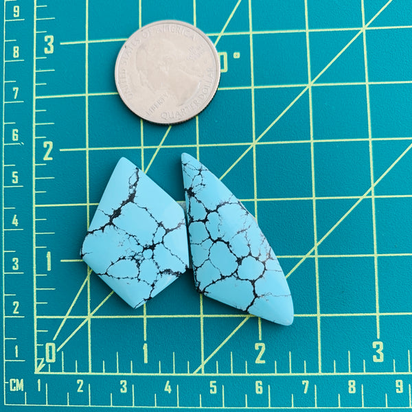 Large Sky Blue Mixed Yungai, Set of 2 Dimensions
