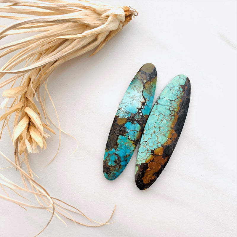 Large Ocean Blue Surfboard Treasure Mountain, Set of 2 Background