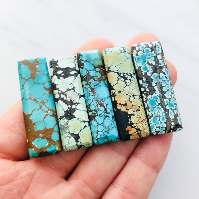 Giant Bar Mixed Turquoise, Set of 5