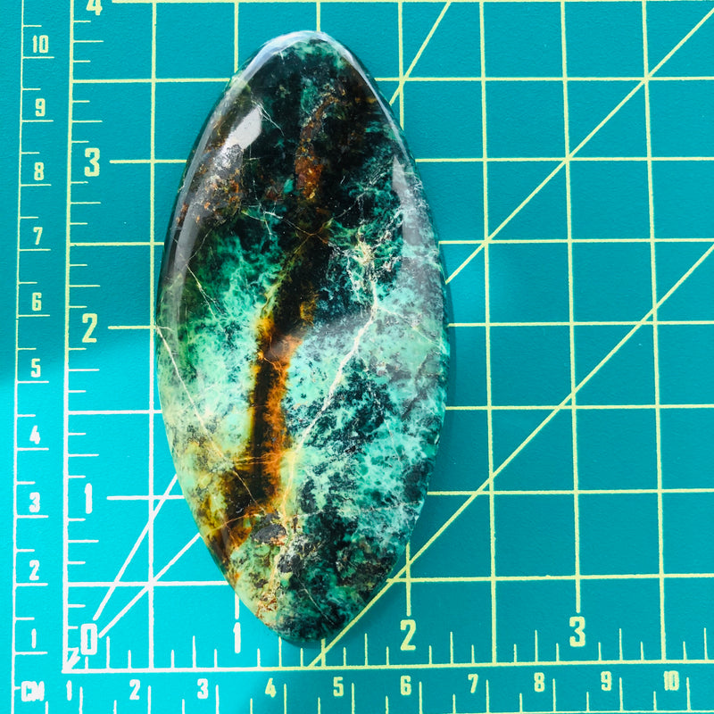 Giant Oval Crescent Lake Variscite