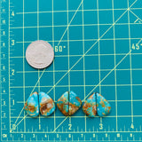 Mixed Sky Blue Royston, Set of 6 Dimensions