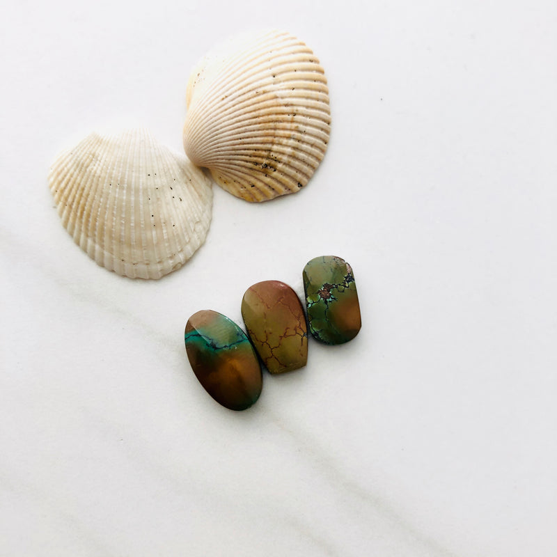 Small Mix Bamboo Mountain Turquoise, Set of 3